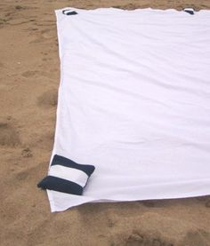 Homemade beach towel weights