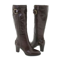 Nine West Women's Look Brown Leather Boots