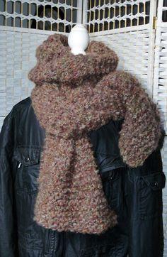 MASCULIN ✿ Écharpe en Laine Ice Yarns ✿ Modèle unique - FAIT MAIN - Idée  cadeau Hiver - St Valentin by Asta en Bretagne 69b13309e3a9