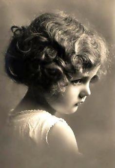 Vintage beautiful little girl / child model photo.