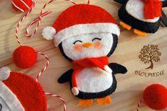 felt penguin - stuffed toy pattern sewing handmade craft idea template inspiration felt fabric DIY project children chistmas DIY ornament