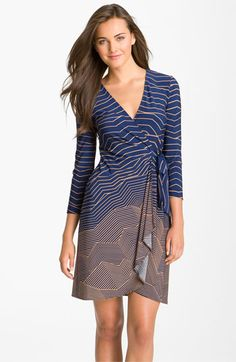 BCBGMAXAZRIA Print Jersey Wrap Dress available at #Nordstrom.    I already have 2 wrap dresses, but I love the pattern of this one!
