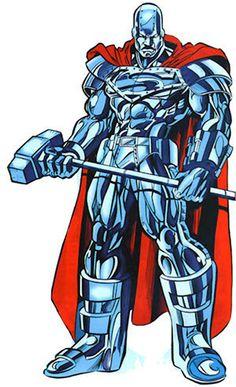 John Henry Irons as Steel! Dc Heroes, Comic Book Heroes, Comic Books Art, Comic Art, Superman Characters, Dc Comics Characters, Fantasy Characters, Steel Dc Comics, Chibi Marvel