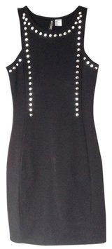 H&M Black Studded Dress $23