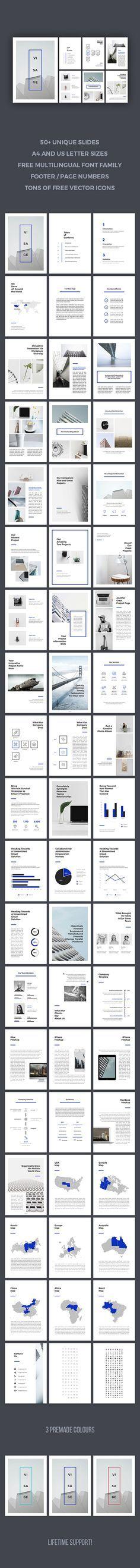 Visage Keynote Template  #a4 #ipad • Download ➝…