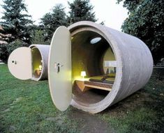 Sewer pipe hotel ...
