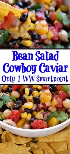 This Cowboy Caviar aka bean salad is the perfect light dish to make! Perfect for bbqs, tailgating, light lunches and full of protein. #cowboycaviar #WW #smartpoints