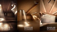 The interiors of musical instruments