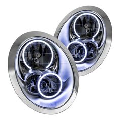 Oracle Lighting® - Chrome OEM Style Headlights with Halos Preinstalled