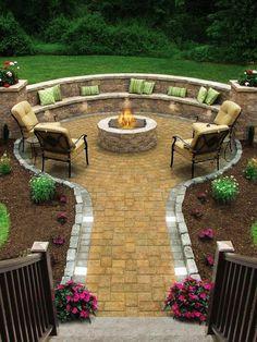 Resultado de imagen de jardin escalonado zona mesa ideas
