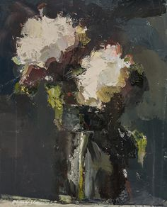 "Lisa Noonis, ""Hydrangea in Glass"" - 14x11, oil on linen --at Principle Gallery"