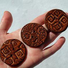 Buttons Large handmade ceramic. $12.00, via Etsy.