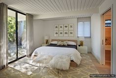 If you want indoor-outdoor flow in the master bedroom, instead of spending to expand your master bedroom, consider putting some of that money toward beefing up what's right outside the door. Sliding glass or French doors leading from the bedroom to a deck or garden can really boost the pleasure factor.