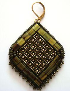 * Плетение-пришивание сеточки. | biser.info - всё о бисере и бисерном творчестве