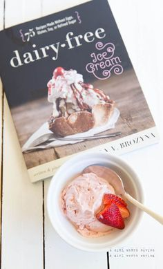 Strawberry Paleo Ice Cream from Dairy-Free Ice Cream #vegan #paleo // AGirlWorthSaving.com
