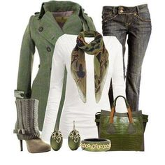 Olive green -winter clothing