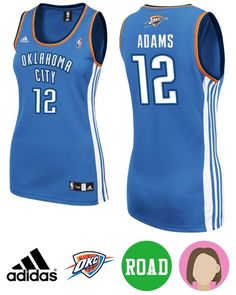This Women s Adidas Thunder Steven Adams Blue Jersey can offer the female  Thunder fans unparalleled fit e71ed95cf