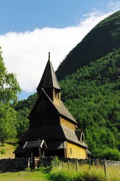 NORUEGA Urnes Iglesia mas antigüa de Noruega-1129