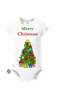 CHRISTMAS Gift Baby Onsie Toddler Tee Free Shipping by Zedezign #christmas