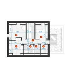 DOM.PL™ - Projekt domu DZW ATRAKCYJNY 2 CE - DOM DW1-14 - gotowy koszt budowy Modern House Design, Floor Plans, Architecture, Modern Home Design, Modern Houses, Architecture Illustrations, Floor Plan Drawing, House Floor Plans, Contemporary Home Design