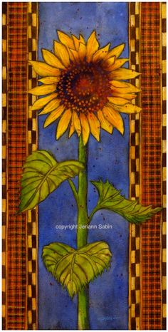 """Items similar to An original watercolor painting """"Sunflower I"""" on Etsy Sunflower Quilts, Sunflower Art, Happy Flowers, Sun Flowers, Vincent Van Gogh, Sunflowers And Daisies, Floral Drawing, Mosaic Patterns, Flower Tutorial"""