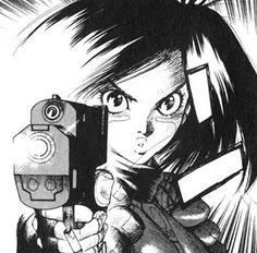 battle angel alita last order | Alita firing the TUNED pistol in Battle 33.
