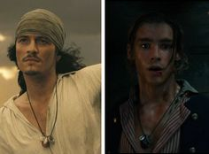 The Turner necklace! Will gives his necklace from the original pirates movies to his son, Henry (excellent casting btw!) I LOVE THE TURNER FAMILY! I hope they are all three (Elizabeth included) in the next movie!