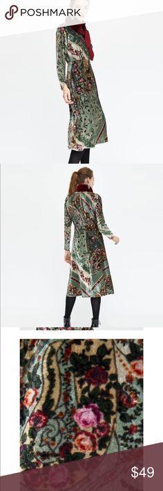 Zara velvet dress Brand new tags Zara Dresses