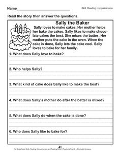 Free Grade Reading Worksheets Pdf Pictures - Grade Math Worksheet For Kids - Math Worksheet for Kids Story Sequencing Worksheets, 1st Grade Reading Worksheets, Letter Writing Worksheets, Punctuation Worksheets, Kids Math Worksheets, First Grade Reading, Math For Kids, Reading Skills, Reading Comprehension