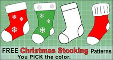 Free printable Christmas stocking patterns, templates, stencils, and designs that you can use for ornaments, Family Christmas Stockings, Christmas Stocking Pattern, Diy Christmas, Christmas Tables, Christmas Patterns, Nordic Christmas, Modern Christmas, Christmas Christmas, Christmas Ornaments