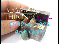 DIY Polymer Clay and Paper Game of Thrones Dragon Egg Chest Miniature Tutorial - YouTube