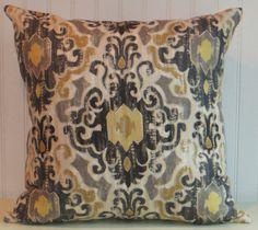 Taupe Pillow Greige Grey Beige Modern Floral