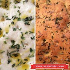 Making Focaccia, Allinson flour herb focaccia, Baking Mad, Baking Mad Focaccia