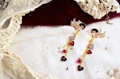 Peynet earrings    La Bottega di Zanzu