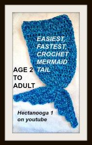Crochet this easy mermaid tail! Scroll down for the free pdf and the video tutorial!  EASIEST-FASTEST-CROCHET-MERMAID-TAIL.pdf
