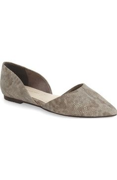 BC Footwear 'Society - Lizard' d'Orsay Pointy Toe Flat (Women) available at #Nordstrom