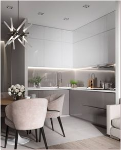 Incredible Art Deco Design You Can Try To Display Exhibits - Page 10 of 22 Kitchen Room Design, Modern Kitchen Design, Home Decor Kitchen, Interior Design Kitchen, Kitchen Furniture, Modern Kitchen Cabinets, Apartment Kitchen, Luxury Home Decor, Kitchen Remodel
