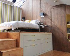Idee per rendere la camera da letto degli adolescenti divertente e funzionale. Un luogo dove dormire, studiare e incontrare gli amici.