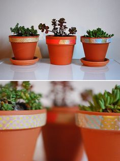 washi tape pots diy2