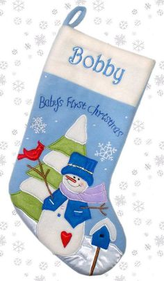1st Christmas Stocking | Baby's First Christmas' Stockings