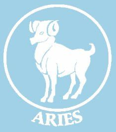 f7c107e0e1eb6 Aries Astrology Sign White Car Truck VINYL Decal Art Wall Sticker USA Vinyl  Creations Custom Decal