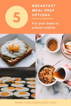 Meal prepping is not just for lunch. If you're a busy woman always on the go, here are some of my go to breakfast meal-prep options. Grab And Go Breakfast, Breakfast Options, Breakfast Recipes, Frozen Burritos, Breakfast Burritos, Breakfast Sandwiches, Lunches And Dinners, Meals, Everything Bagel