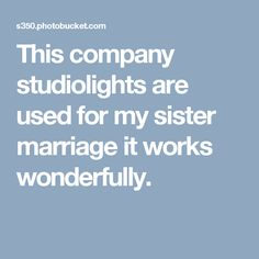 This company studiolights are used for my sister marriage it works wonderfully.