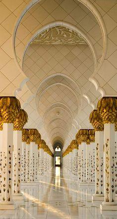 """The Pillars - The Grand Mosque"", Abu Dhabi, United Arab Emirates (by julian john) Beautiful Islamic Quotes, Beautiful Mosques, Mosque Architecture, Art And Architecture, Ancient Architecture, Abu Dhabi, Cultura Judaica, Most Beautiful, Beautiful Places"