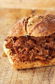 This amazingly easy slow cooker pulled pork recipe takes only 10 minutes to make, then set it and forget it in your crock pot. Sweet, tender, and delicious.