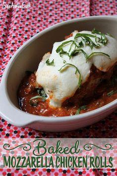 See Aimee Cook: Baked Mozzarella Chicken Rolls