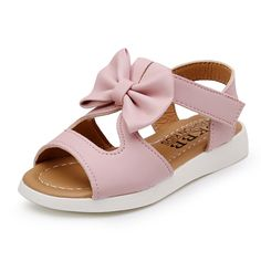 Kids Girl Shoes Sandals Summer Children Sandals Fashion Bowknot Girls Flat Pricness Shoes Zapatos Verano Sandals For Girls Girls Flats, Girls Sandals, Toddler Sandals, Shoes Uk, Kid Shoes, Amazon Mode, Pink Sandals, Beach Sandals, Flat Sandals