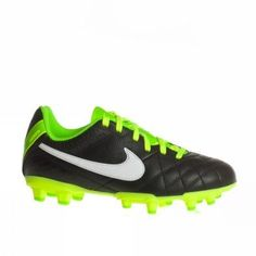 Nike Trainers Shoes Kids Jr Tiempo Natural Iv Ltr Fg Black Nike. $54.86