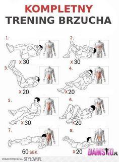 Kompletny Trening Brzucha - Full Sixpack Training Plan Health Ab - Yeah We Workout ! Best Workout Plan, Six Pack Abs Workout, Abs Workout For Women, At Home Workout Plan, Fun Workouts, At Home Workouts, Sixpack Training, Corps Parfait, Best Abdominal Exercises