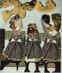 Hannah Hoch distorts images to reacreate a picture, in this piece there is minimal colour and I like the distortion of the faces